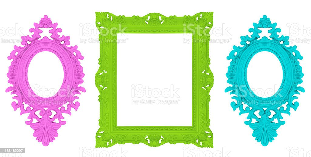 Set of beautiful ornamental frames royalty-free stock photo