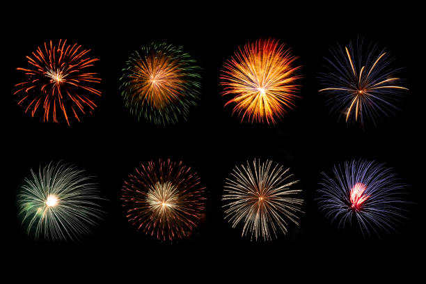 Wunderschöne funkelnde lebendiges Feuerwerk – Foto