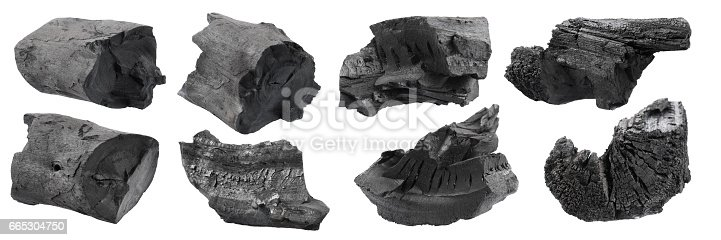 istock set of black charcoal isolated on white 665304750