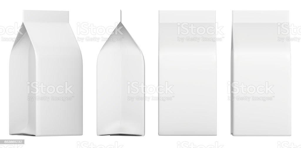 Conjunto de caixas em branco. Maquete de pacote de varejo. Isolado no branco. renderização 3D - foto de acervo