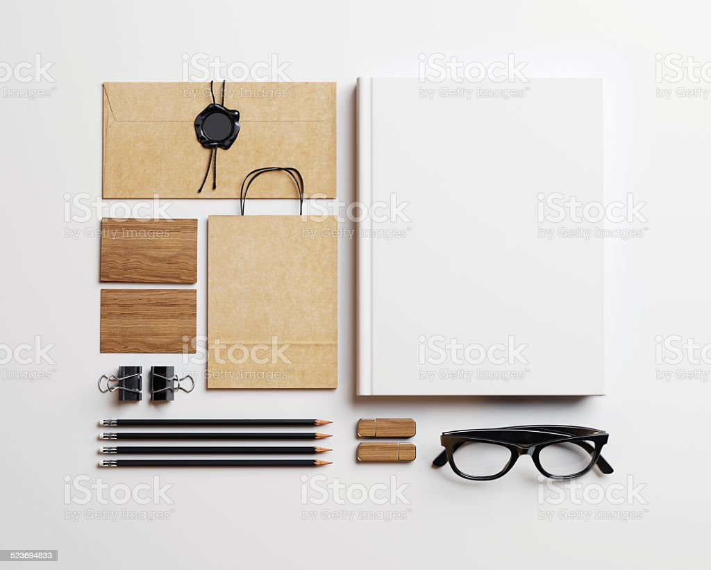 Set of blank elements stock photo