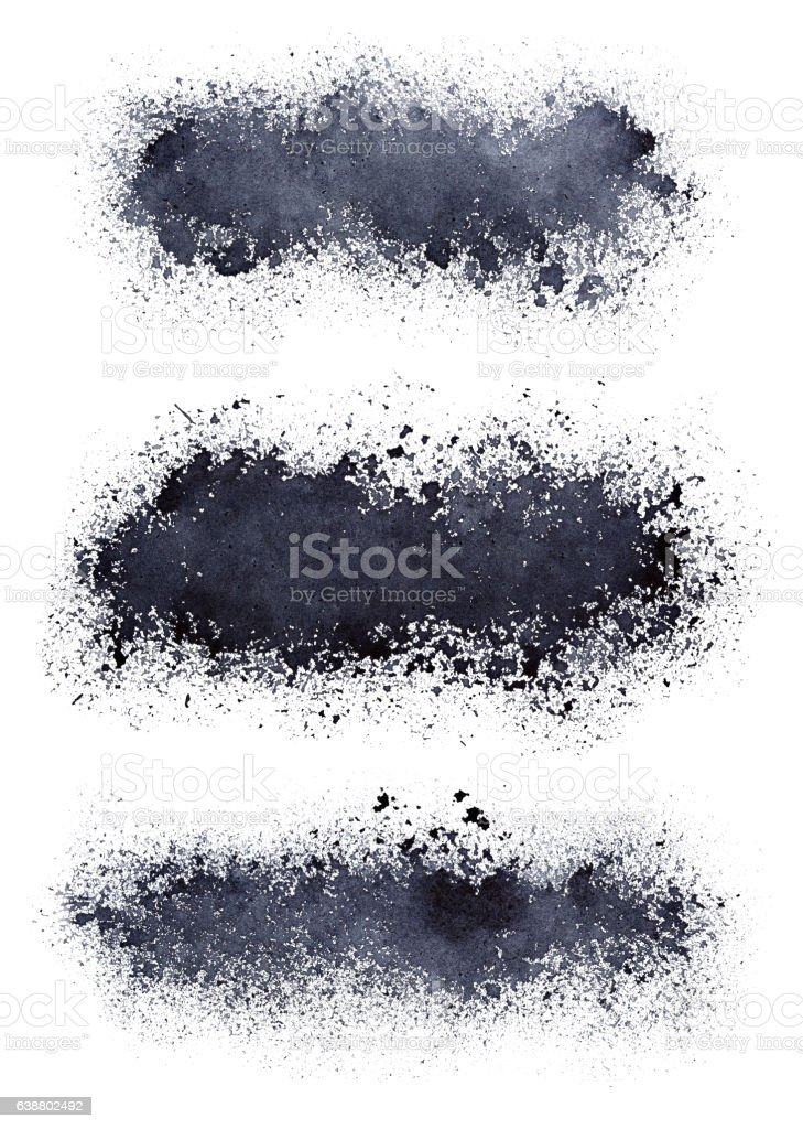 Set of blots stock photo