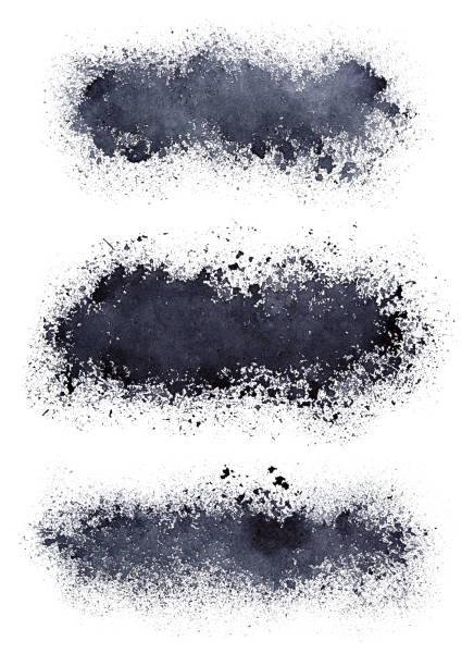 Set of blots stock photo