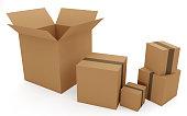 istock Set of boxes 1127626292