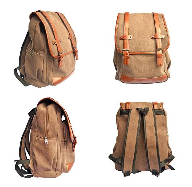 Set of brown bag on white background ストックフォト