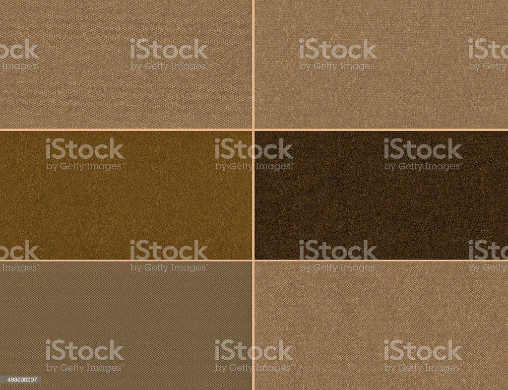 Set of brown textures. stock photo
