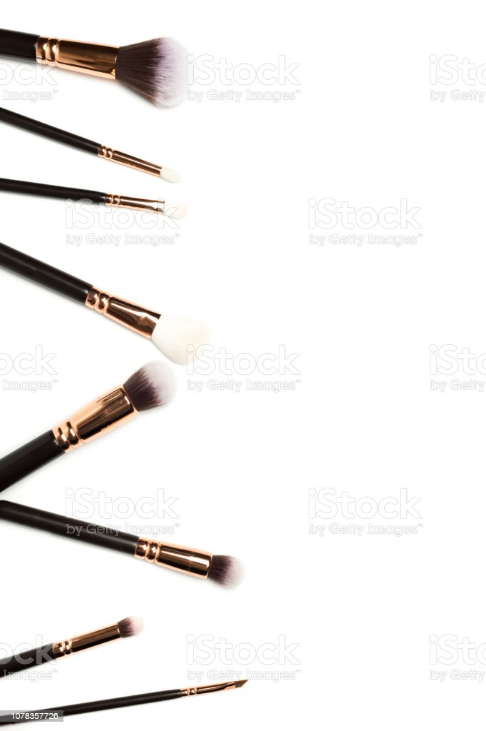 Set of brushes for powder стоковое фото