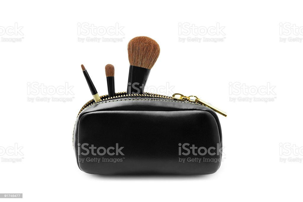 Set of brushes stock photo