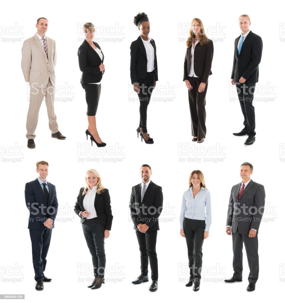 Set Of Businesspeople stock photo
