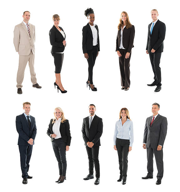 Set Of Businesspeople stock photo