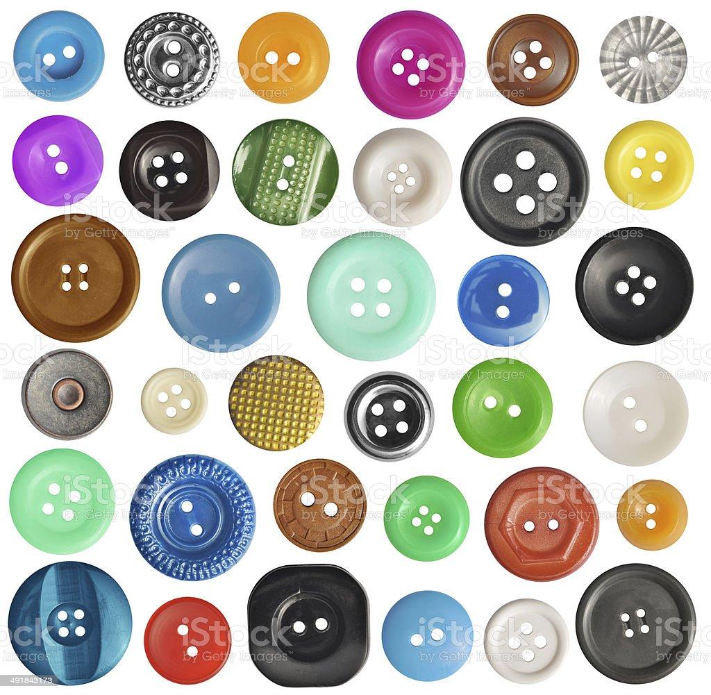 Conjunto de botões - foto de acervo