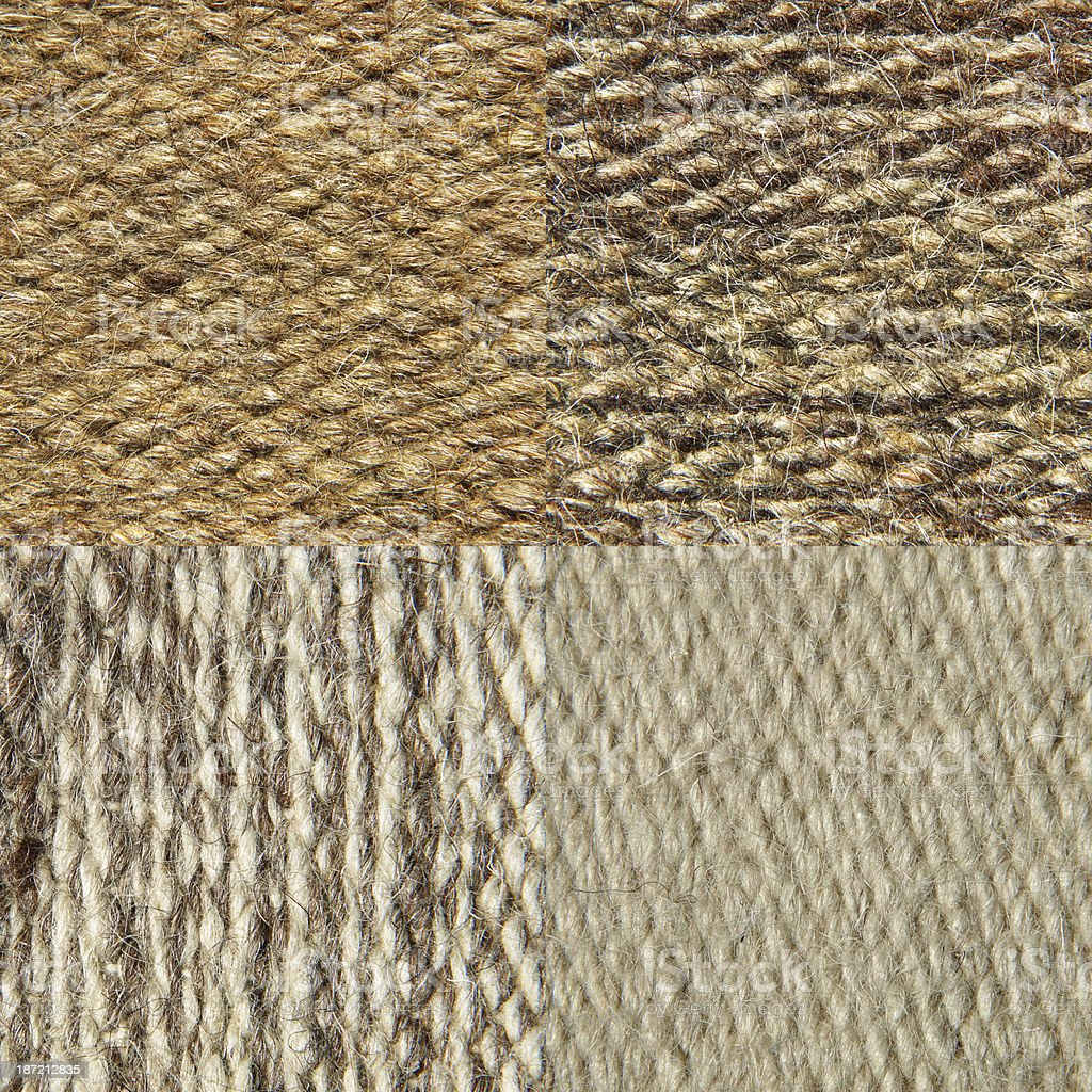 Set of camel wool fabric texture pattern. royalty-free stock photo