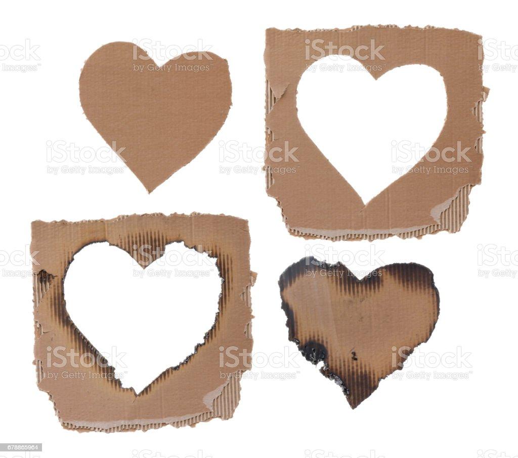 Set of cardboards photo libre de droits