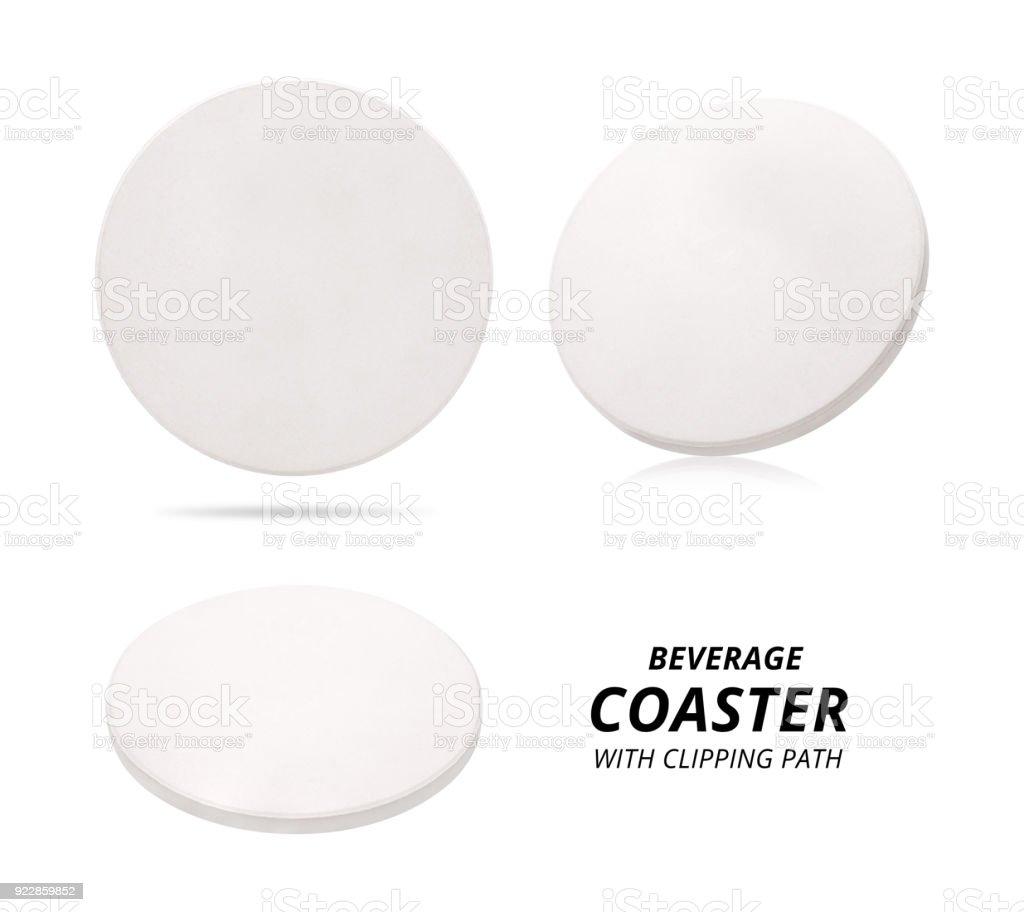 Satz von keramischen Getränke Untersetzer isoliert auf weißem Hintergrund. Keramische Bodenplatte für setzen Ihre Tasse. (Clipping-Pfad) – Foto