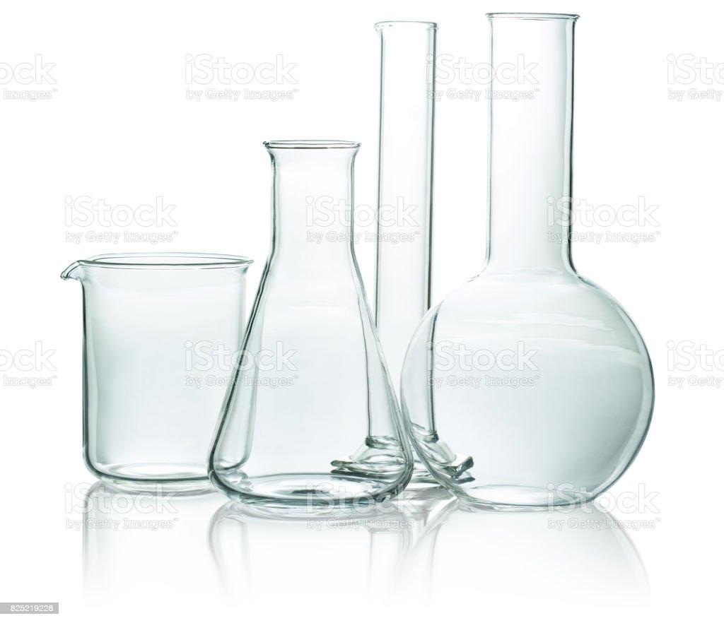 set of chemical glassware stock photo