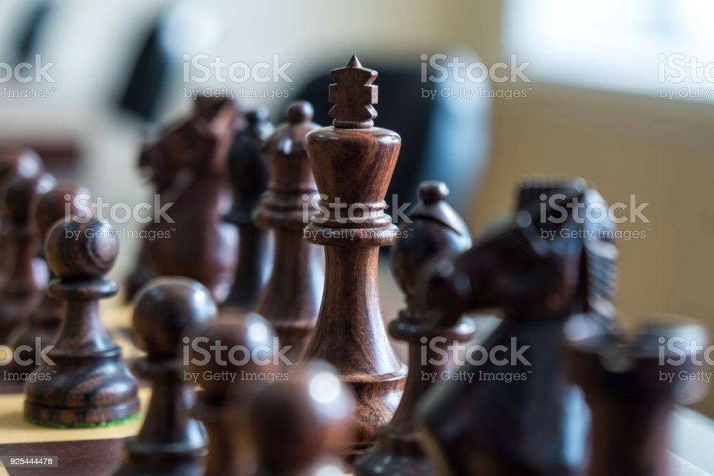 Set Of Chess Figures On The Playing Board Stock Photo
