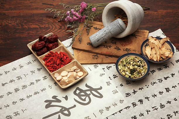 A set of Chinese herbal medicine and tea set Chinese herbal medicine and tea set,still life chinese herbal medicine stock pictures, royalty-free photos & images