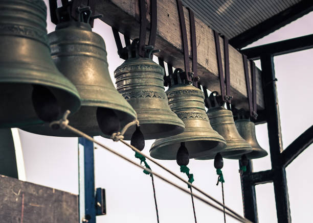 Set of church bells. Set of church bells. Retro style. bell tower tower stock pictures, royalty-free photos & images