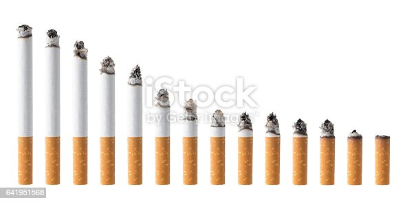 Set of Cigarettes with clipping path