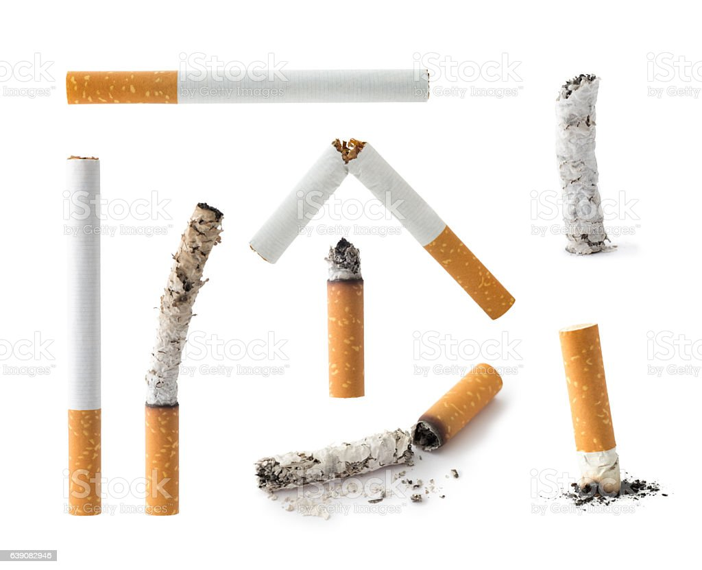 Set of Cigarettes , isolated stock photo