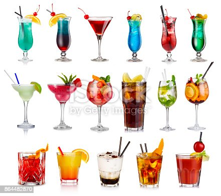 istock Set of classic alcohol cocktails isolated 864482870