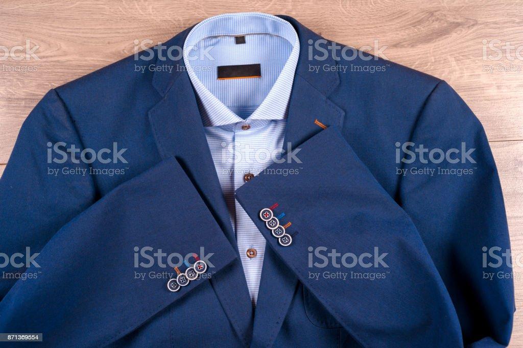 Para Azul Ropa Traje Camisas Conjunto Hombre Clásicos De Zapatos kZiXuP