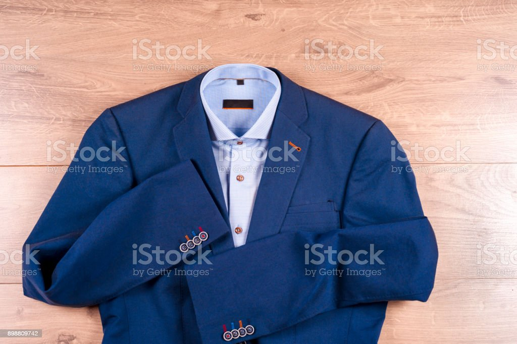 Para Azul Hombre Conjunto Camisas Ropa Zapatos Traje Clásicos De 513KFuTlJc