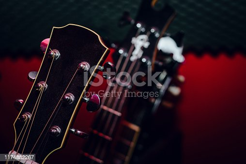 1014432572 istock photo A set of classical and electric guitars. Music concept. 1174882267