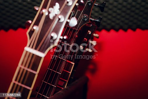 1014432572 istock photo A set of classical and electric guitars. Music concept. 1174882284