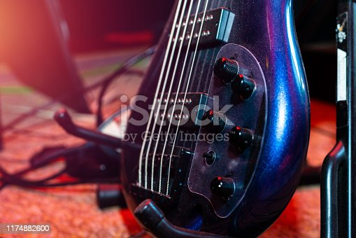 1014432572 istock photo A set of classical and electric guitars. Music concept. 1174882600