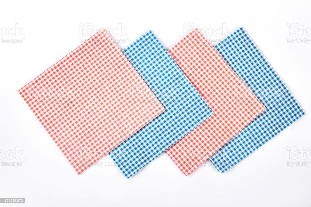 Set of cloth vintage napkins. stock photo