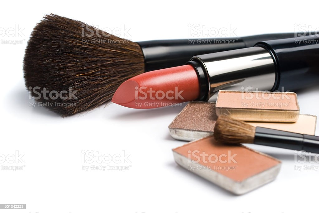 set of color face makeup stock photo