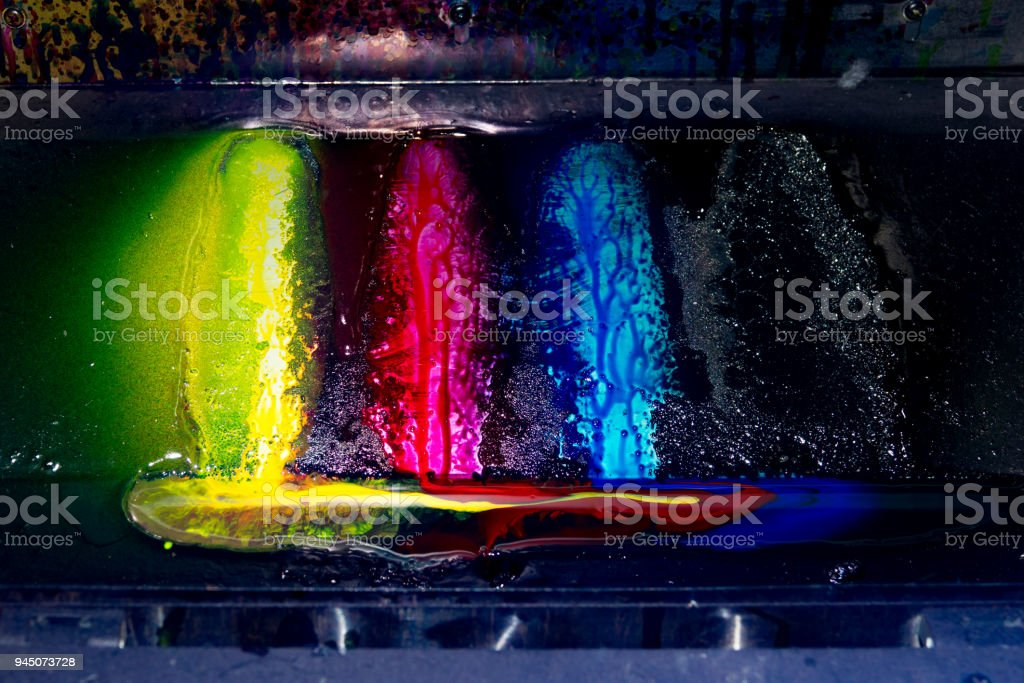 Set of color of printer for vinyl poster stock photo