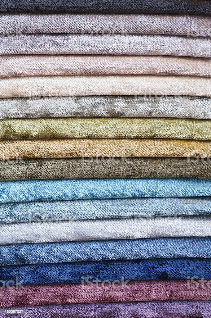 Set of color textiles royalty-free stock photo