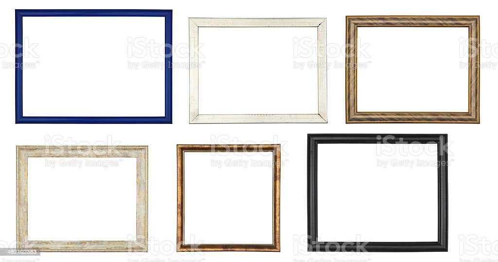 e3f673b3232a Set of colored frames on white background royalty-free stock photo