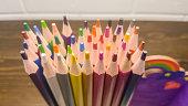 Colored Pencils on Desk