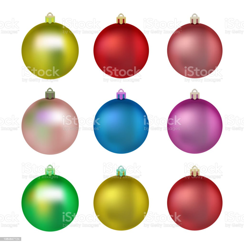 Colorful Christmas Balls.Set Of Colorful Christmas Balls Balls For Christmas Tree