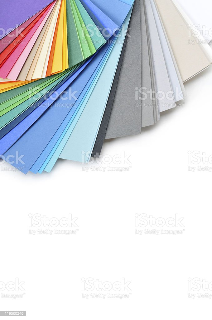 set of colorful paper stock photo