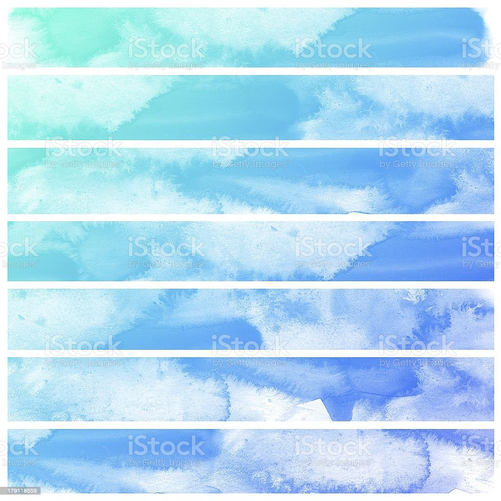 Set of Colorful water color painting background royalty-free stock photo