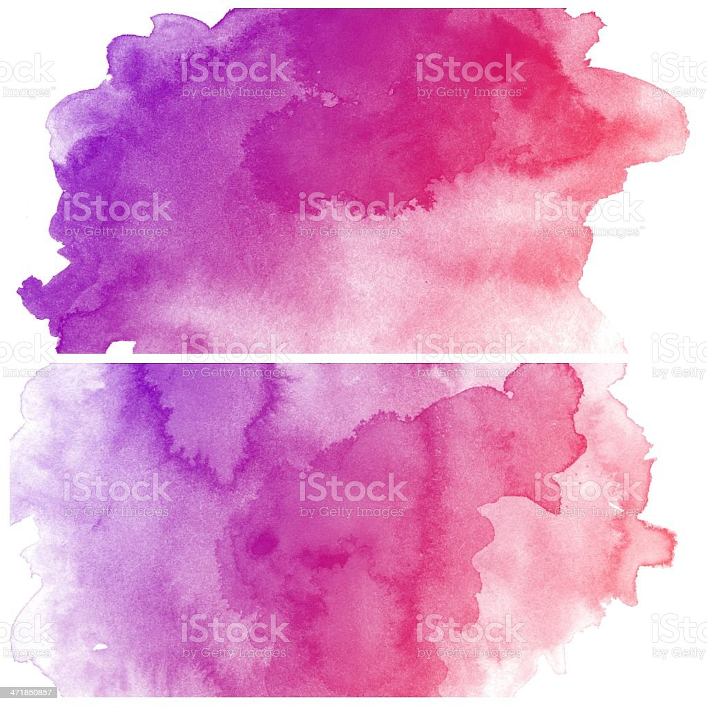 Set of Colorful water color painting background stock photo