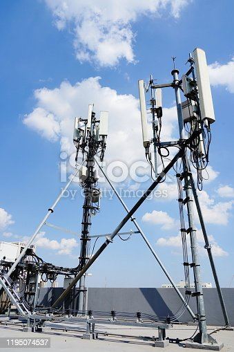 1169777785istockphoto Set of communication tower 1195074537