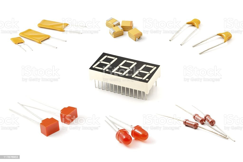 Set of components royalty-free stock photo