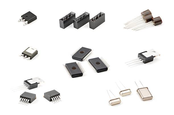 Set of components stock photo