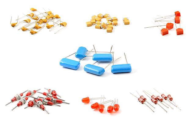 set of components - capacitor stock photos and pictures