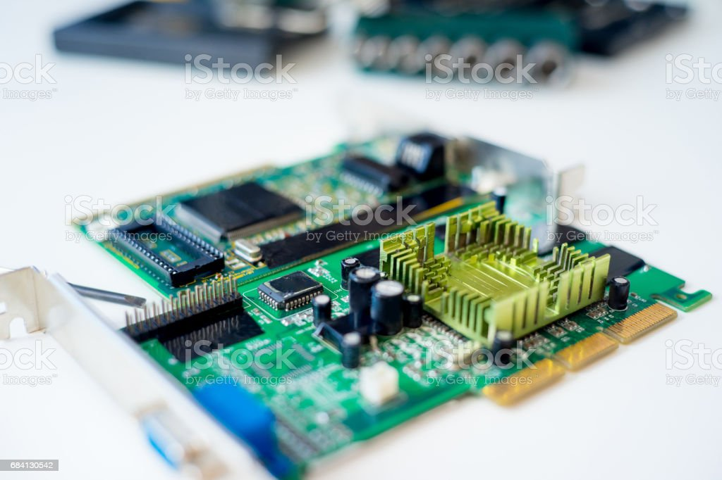 Set of computer hardware zbiór zdjęć royalty-free