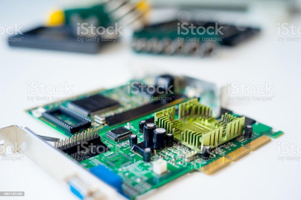 Set of computer hardware foto stock royalty-free