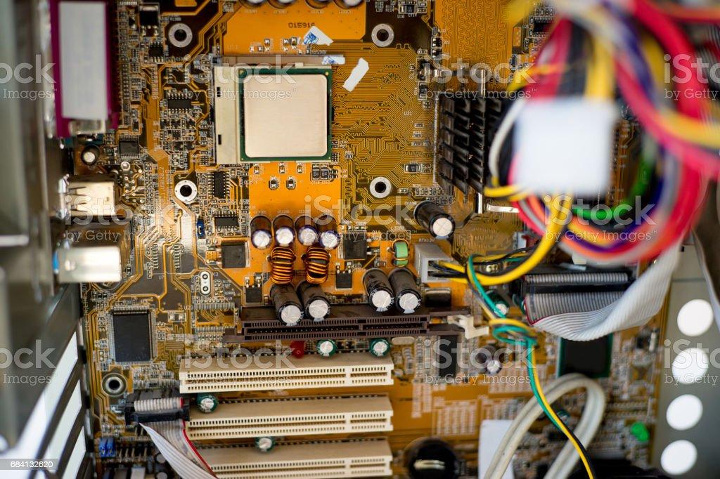 Set van computerhardware royalty free stockfoto
