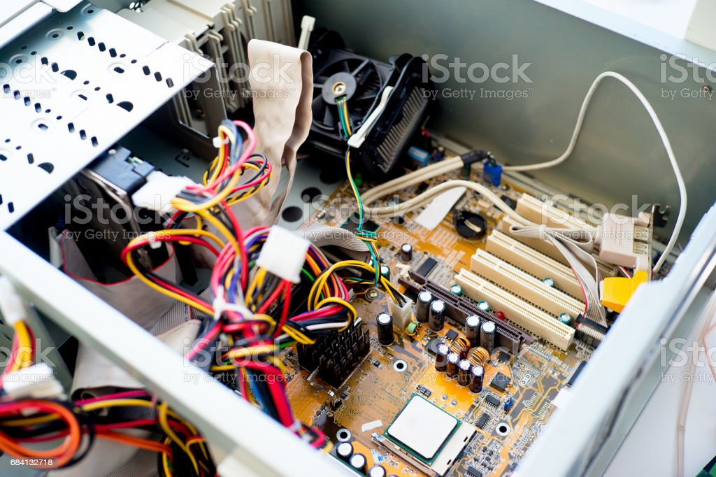 Set of computer hardware foto stock royalty-free