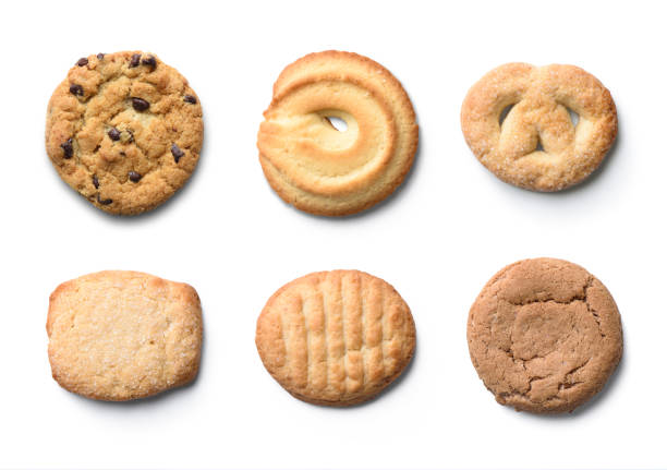 set of cookies isolated on white background stock photo