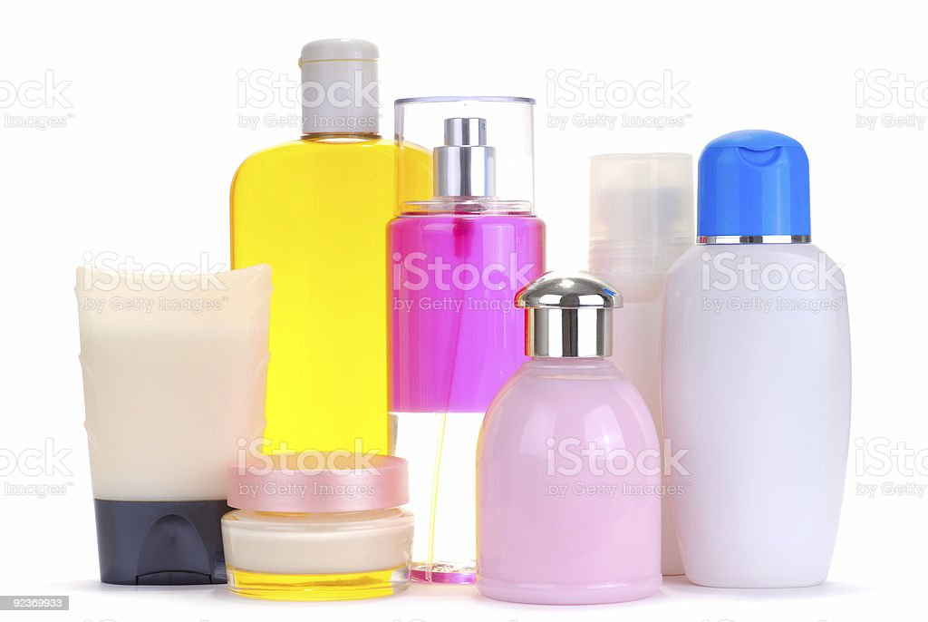 set of cosmetic bottles royalty-free stock photo